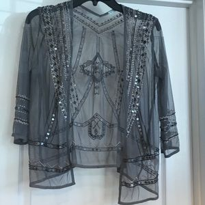 Cute Small Maurice's Beaded Sequined Top